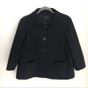 ANN TAYLOR Black Button short blazer jacket 12
